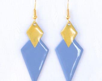 Earrings double Rhombus