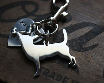 Chihuahua Personalized Keychain Dog Lover Custom Dog Breed