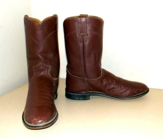11 Brown size cowgirl Justin to Boots D Roper brand size 9 cowboy style 10 5 or rBqvgZr
