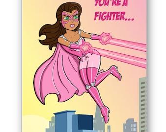Pink Crusader Breast Cancer Card