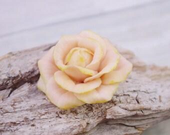 Sculpted rose cold porcelain