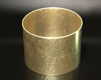 Bracelet/Cuff Blank, Yellow Brass, 20 gauge, Fretz, Choice of Sizes, Pre-Shaped Blank, Metal Forming, Stamping