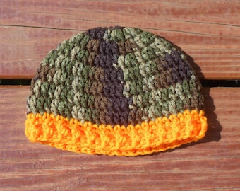 Camo Baby Hat, Hunting Hat, Hunter Props Baby, Camo Toddler Hat, Camoflauge Baby, Infant Camo, Hunting Season, Fall Photo Props, Camo Gifts