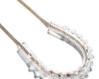 Glass U Dot Necklace