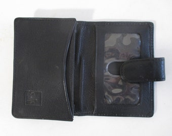 Weekend Wallet, Leather, Vintage Credit Business Card Case CC Holder, ID Window Minimalist Compact Design