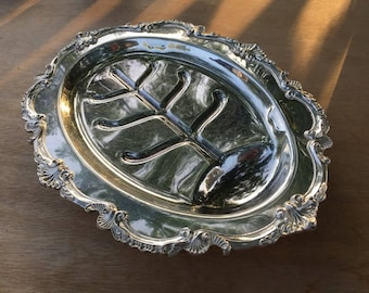 Silver Plated Footed Meat Tray