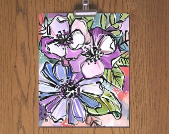 Day 53 - Floral Art Print - Sketchbook Project