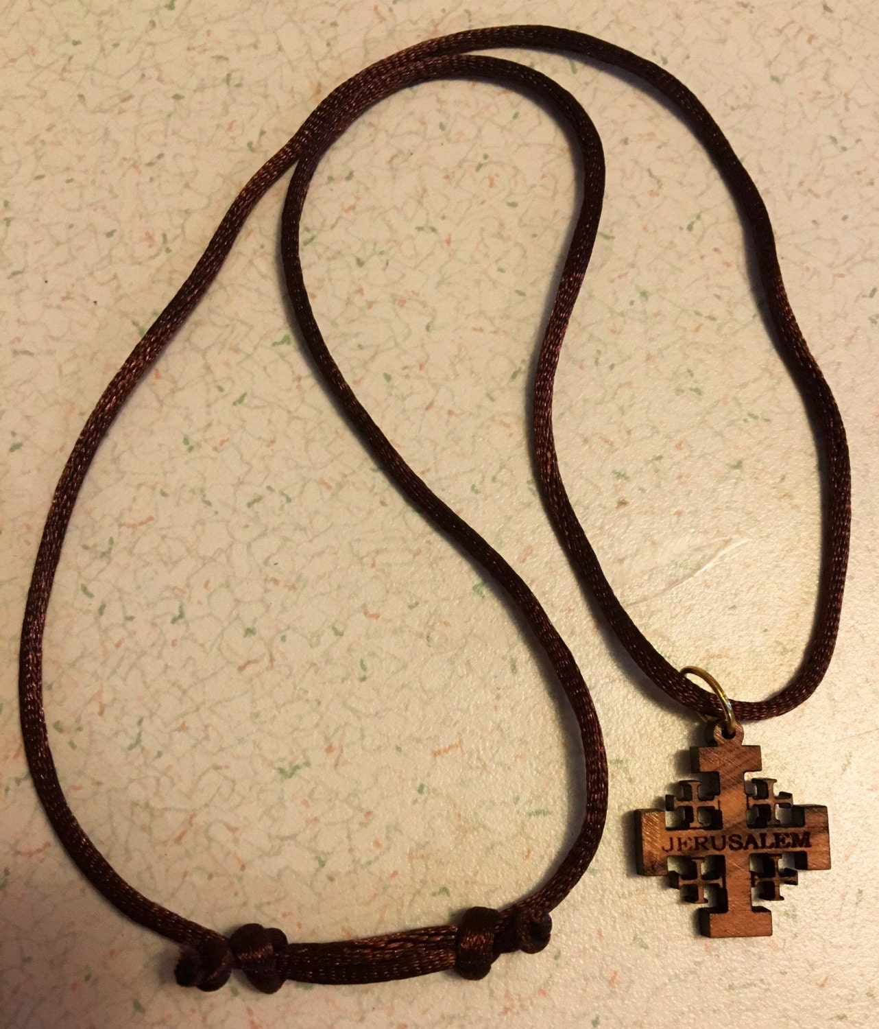 cross silver jerusalem pendant