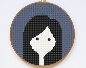 Marceline, Adventure Time Cross Stitch Pattern, Easy Cross Stitch Chart, PDF Format, Instant Download