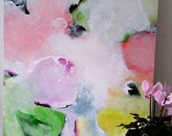 Pastel Painting, Abstract Painting, Pastel Colours, Flowers, Original Art, Trish Callaghan, Floral, Abstract Art, Abstract Painting Wall Art