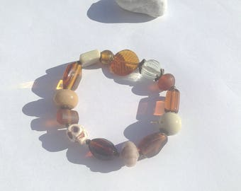 """Arizona"" glass beaded elastic bracelet"
