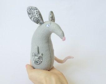 Felt Rat Toy, Stuffed Rat, Felted Animals, Stuffed Animals, Animals Plush, Felt Mouse, Rat Softie,