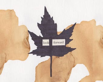 "Look Forward - Blackout Poetry and Tea (Print) from ""The Hobbit Collection"""