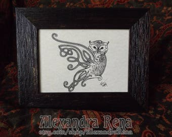 Celtic Knotwork Owl Framed Art Print
