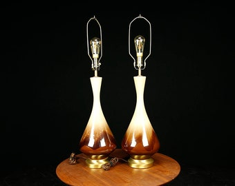 Pair of mid century lamps by Royal Haeger Pottery