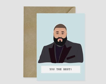 DJ Khaled, Birthday Gift, Funny Card, Humour Card, Birthday Card, Beyonce Card, Pop Culture Card, Hip Hop, Graduation Card, Graduation Gift