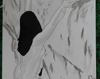 "nude drawing erotic female ""Ascension"""