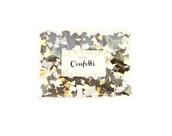 Black, White & Gold Party Confetti - Tissue Paper Confetti, Party Decor, Confetti Toss, Party Confetti, Confetti Packet, Crepe Confetti