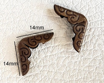 No.29 - Angle corner Protector for book notebook 14x14x2mm bronze