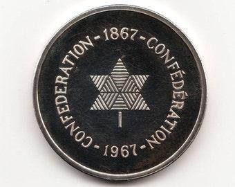 Canadian Silver Dollar 1967, Mint, MS62/3
