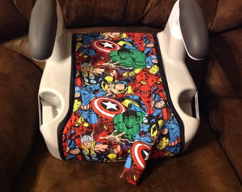 Made to order/custom Evenflo AMP booster seat cover with seat belt cover