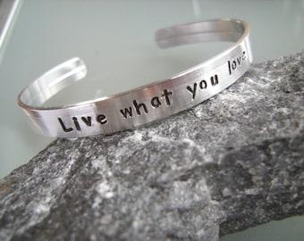 Motivational bracelet, Graduation Gift, Inspirational Bracelet, Quote bracelet, Custom Stamped Bracelet, Simple jewelry, Personalized