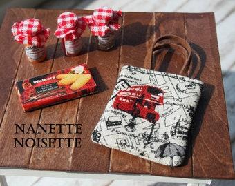 Nanette Noisettes London Themed  Blythe Bag Double-Decker Bus  (Miniature for dolls)