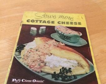 Vintage 1954 Sealtest Serve More Cottage Cheese Cookbook Flyer