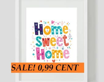 PROMO LISTING 0.99! Home Sweet Home 071 Cross Stitch Pattern Counted Cross Stitch Chart, Pdf Format, Instant Download / 115148