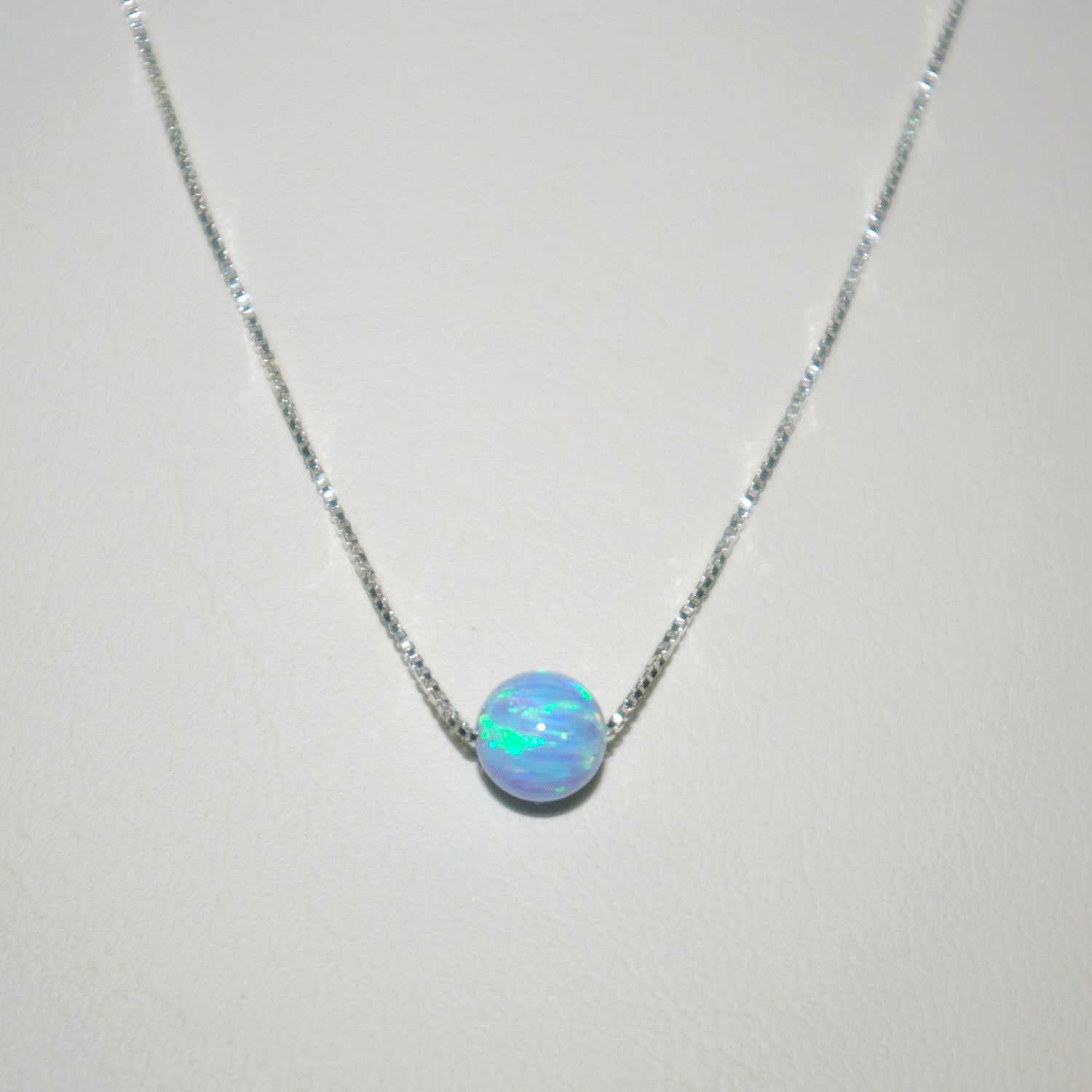 original chain opal ball silver matte product crystal swarovski blue air white necklace pendant pearl