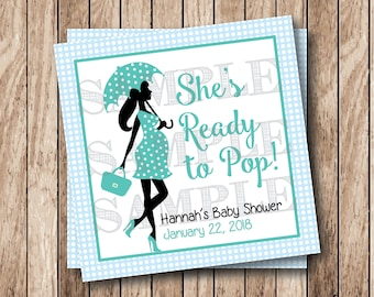 Personalized Printable Ready To Pop Tags, Printable Baby Boy Shower Tags, Printable Baby Shower Tags, Ready to Pop Labels
