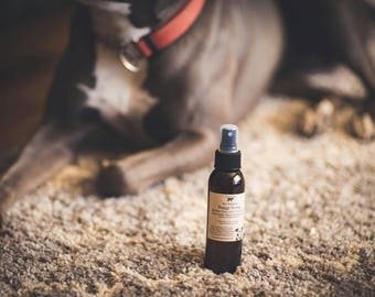 Doggy Spray! All Natural, non-toxic spray for Dogs-Hot Spots-Itching-Rashes-Cuts-Hair Loss-Skin Irritations-Flea & Tick Repellent