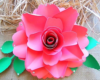 Giant paper flower template patterns and tutorials giant diy paper rose pattern diy paper rose flower templates diy paper flowers wedding mightylinksfo Image collections