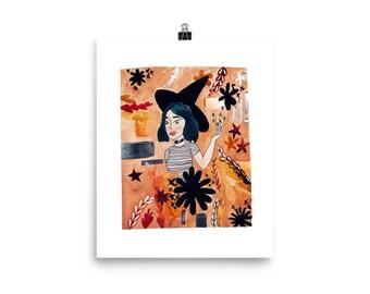 botanical witch print