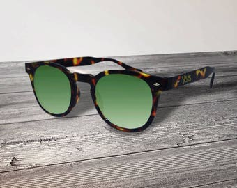 Customizable Tortoise Sunglasses/Sunglasses-Text engraving-lens various colors Made in Italy-Customize with YUS