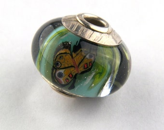 Butterfly Bead Lampwork Glass Bead by Chase Designs