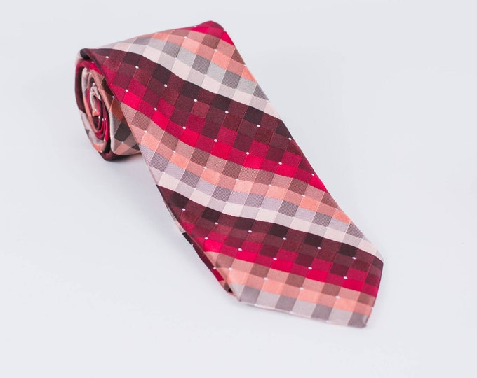 "The ""RedRum"" Striped Tie"