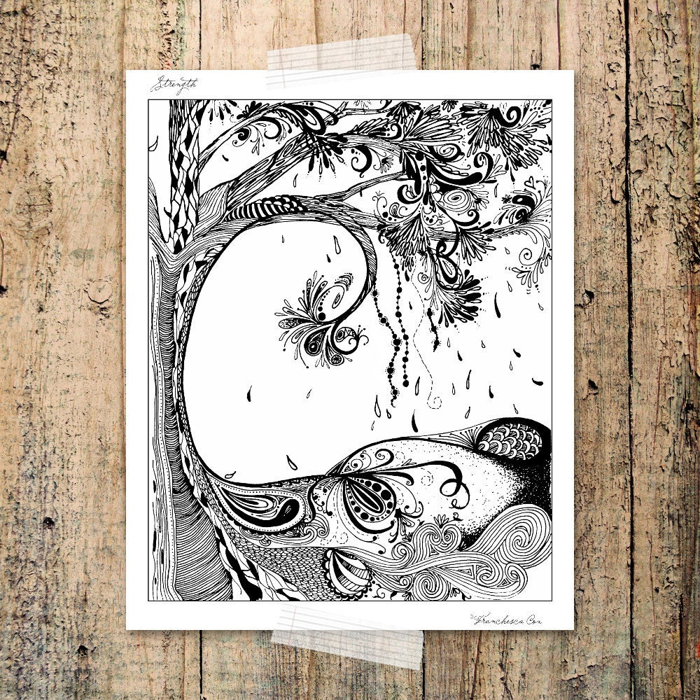 Tree symbol of strength coloring page rooted words hand zoom biocorpaavc Images