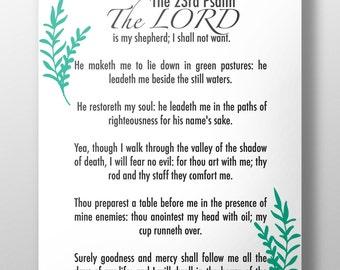 Refreshing image pertaining to printable 23rd psalm