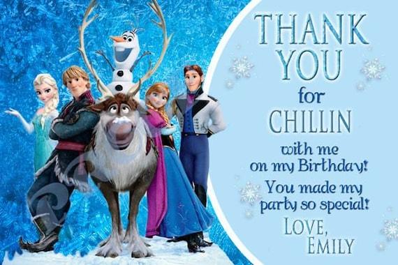Frozen Thank You Birthday Card Digital You Print 4x6 or 5x7
