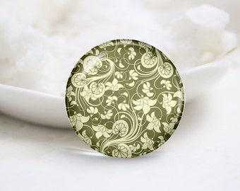 Handmade Round Glass Photo Cabochons-Pattern (P3270)