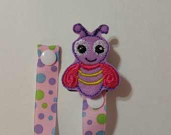 Baby Pacifier Clip/Girl Firefly Pacifier Clip
