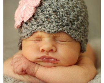 Crochet Baby Girl Hat, Gift for Baby Girl, Newborn Photo Prop, Baby Hat for Girl, Baby Girl Hat, Newborn Girl Photo Outfit, Newborn Baby Hat