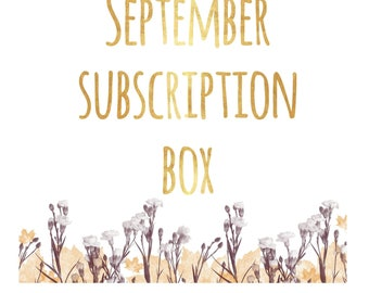 Crystal Subscription Box ~ September ~ Air Element ~ Monthly Subscription Box ~ Monthly Crystal Box ~ Crystal Gift ~ Crystal Gift Set