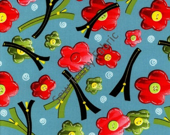 Zippity Zippers Blue by Dana Brooks - Henry Glass Fabrics 9709-11 (sold by the 1/2 yard)
