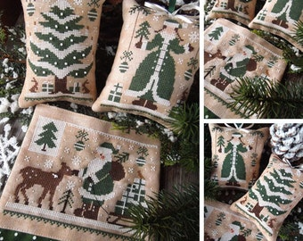 Green Christmas - The Colors of Christmas Series - PDF DIGITAL Cross Stitch Pattern