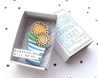 Zonnige zonnebloemen - The Instant Comfort Pocket Box - alles zal worden ok