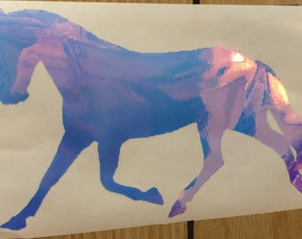 Horse in Holographic Glossy Vinyl
