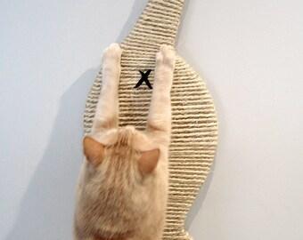 Scratch-My-Butt Cat Butt Scratcher. Wall-mounted super space saver sisal scratch pad
