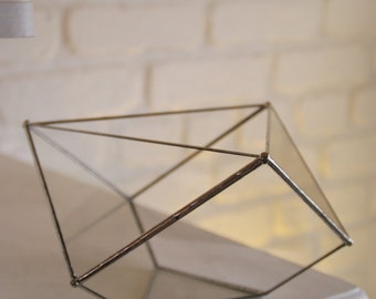 Terrarium à facettes en verre. Géométrique. Planter. Jardin intérieur. Pot plante. Cadeau